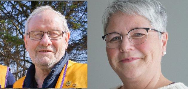 Arne Christoffersen styreleder Aud Karin Larsen daglig leder Vestvågøy frivilligsentral