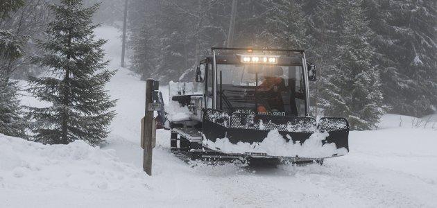 RINGKOLLEN: Axel J. Holt etterlyser løyper på Uglaveien og over til Spålsveien når det er for lite snø i terrenget.FOTO: FRODE JOHANSEN