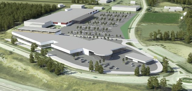 Varehandel: Fagerstad Eiendom AS planlegger å bygge 12.000 kvadratmeter næringslokaler på Meieritomta på Brennemoen og har allerede signert Sparl Kjøp og Biltema. Arkivillustrasjon