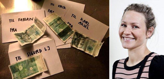 GJØR DET ENKLERE: Siri Eggesvik har barn på Sandåsen skole. Der gir alle i klassen 50 kroner til bursdagsbarnet, og Siri har funnet 8 gode grunner for at hun gleder seg over ordningen.