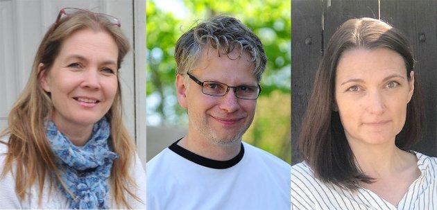 MÅ BIDRA. Gruppelederne Ida Cathrine Ruud (SV), Øyvind Nerheim (KrF) og Hanne Børrestuen (Ap) mener Nittedal må bidra i en dugnad for å få hente flyktninger bort fra Morialeiren.