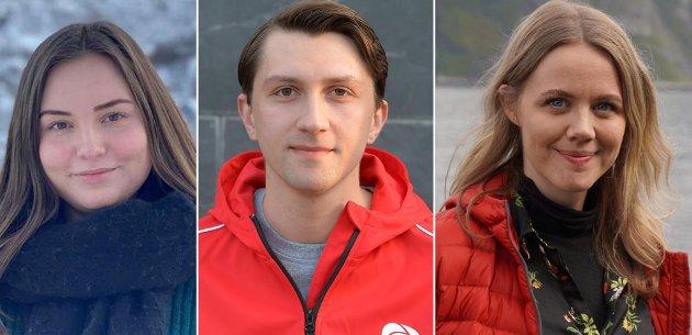 Victoria Figenschou Mathiassen 23 år og 7. kandidat, Nicklas Simonsen 24 år og 10. kandidat  og  Marta Hofsøy 29 år og 4. kandidat for Troms Arbeiderparti skriver at deres engasjement startet i lokalsamfunnene.