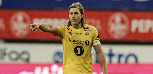 Martin Bjørnbak fra Bjerka er visekaptein for Bodø/Glimt. Glimt spiller sin første treningskamp fredag, en kamp som sendes direkte på ranablad.no.