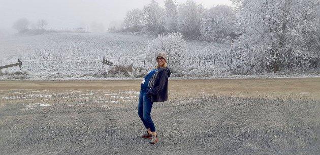BIDRAR TIL VEKST: Maja Leonardsen Musum bidrar på sitt vis til vekst på Hadeland. Hun er innflytter som stadig vurderer å bli utflytter.