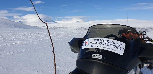 Snøscooter er også friluftsliv