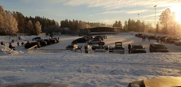 Det yret av liv på Østre Greverud på søndag. Ta en titt på bildene fra en av ØBs lesere.