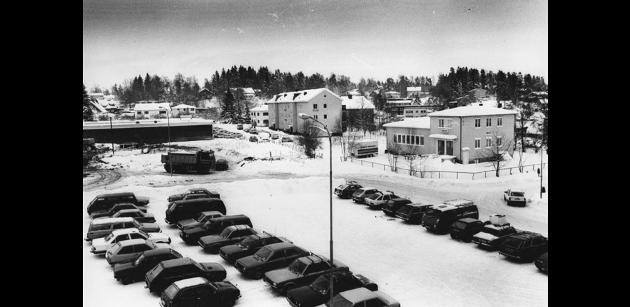 1987: Nedre torg i Ski.