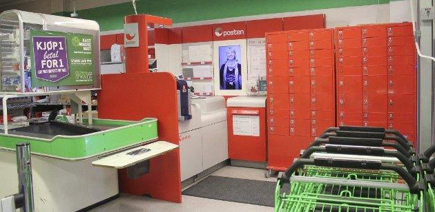 Fram til september 2016 var det Post-i-butkk her på Kiwi på Fagerstrand. Arkivfoto: Hanna Krogvold