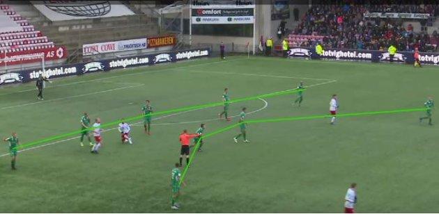 Kent Bergersen valgte ikke uvventet å gå ut defensivt i en 5-4-1-formasjon på Fredrikstad stadion.