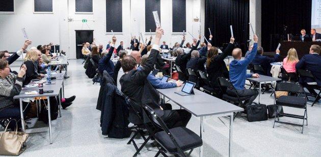 KNEPENT: 22-21 ble resultatet da kommunestyret stemte i saken i dag. Foto: Lasse Nordheim
