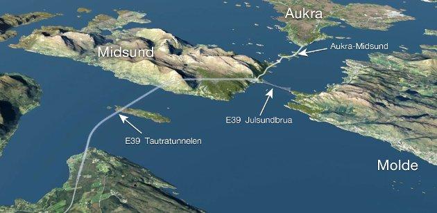 - Realiseres Møreaksen, blir det både en trafikkmessig og en økonomisk katastrofe, med en pris på 50 milliarder fra Ålesund til Hjelset, skriver Johan A. Johansen i Ålesund.