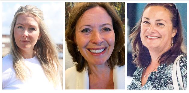 KVINNER PÅ TOPP: Else Marie Rødby (Sp) (f.v.), Kari Sofie Bjørnsen (H) og Ragnhild Male Hartviksen (Ap) kan bli stortingsrepresentanter fra Asker.