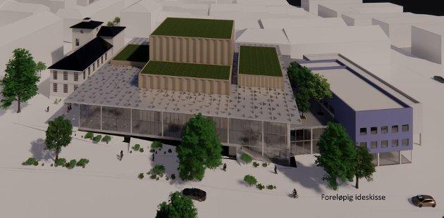 Arne Helseth er ikke begeistret for de nye skissene for opera- og kulturhuset i Kristiansund.