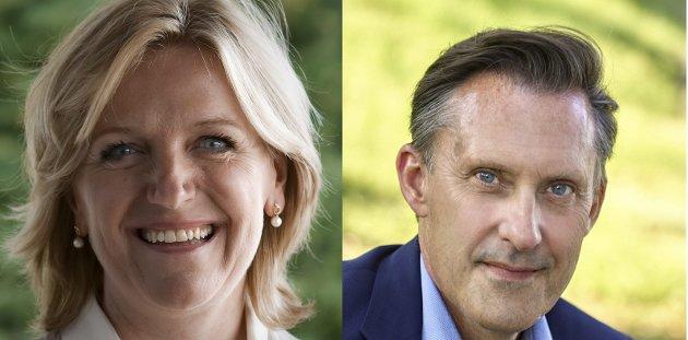 SKRIVER: Cecilie Lindgren og Håvard Vestgren i Asker Høyre er opptatt av grundere i den nye kommunen.
