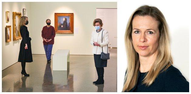 KUNSTMUSEET: – Det er en stor glede å få åpne denne spektakulære utstillingen, sa Dronning Sonja da hun besøkte Lillehammer i mars. Men er vi som bor her like flinke til å kombinere fjell og kunst?