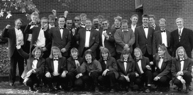 """BERGEN: Jaren Hornmusikkforening var i aksjon under NM for brassband i 1993. Her gjennomførte de """"Amaranth"""" av Ray Steadmann-Allen."""