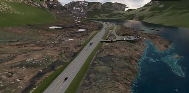 E134 må opparbeides som en felles trase østover for trafikk fra både Bergen og Stavanger. Denne må bygges fremtidsrettet og vintersikker, mener FrP.