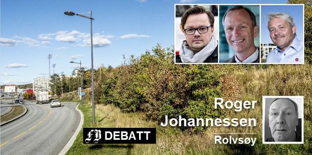 Politikerne som stilte seg positive til boliger for spillere på gatelaget, og som Roger Johannessen her utfordrer, var Atle Ottesen (Ap), Truls Velgaard (H) og Bjørnar Laabak, (Frp).