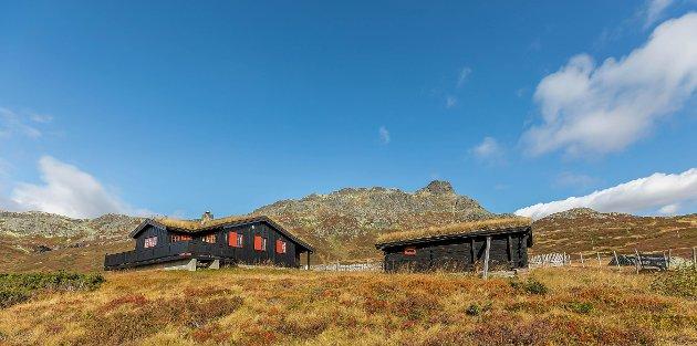 POPULÆR: Denne hytta under Bitihorn på Beitostølen var en av de som gikk høyest over prisantydning i 2020. I fjor ble det solgt rekordmange hytter i Valdres.