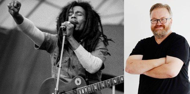 FRA JAMAICA TIL LYSTLUNDEN: Reggae-kongen Bob Marley under Hortensfestivalen 2. juli 1978. Arne Lysne er på vei til Horten denne helgen.