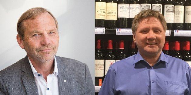 Forbundsleder Alfred Sørbø og Alf Ole Berglund leder for Akademikerforbundet Vinmonopolet