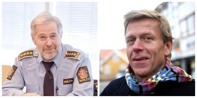 Louis Anda (t.h) meiner Arne Johannessen (t.v) evaulerer seg sjølv med sjølvskryt. Her får han svar på det.