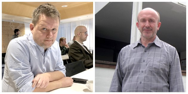 ÅTAK: Eks-ordførarane i Leikanger og Balestrand, Jon Håkon Odd og Harald Offerdal, går rett i strupen på ordførar Arnstein Menes i nye Sogndal.