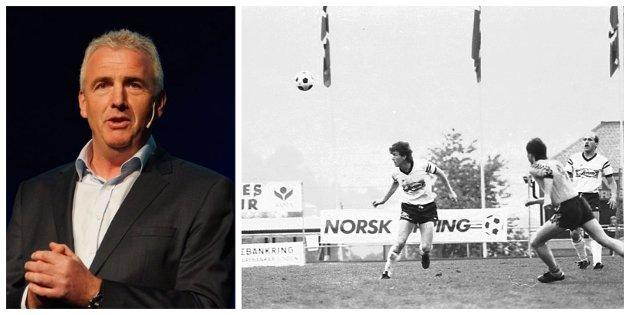 MINNAST: Kameratane Gisle Solheim, Arild Hopen, Atle Torvanger og Lasse Opseth minnest mennesket og fotballspelaren Helge Strypet.