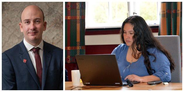 Ole André Aarvoll og Antonella Vidal er kommunestyrerepresentantar for Ap i Sogndal.