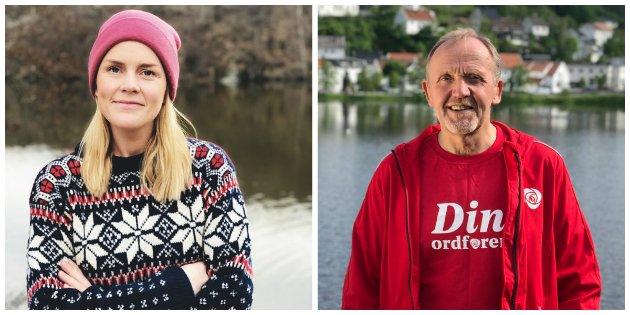 Tvedestrand Arbeiderparti: Gundhilld Lunde-Lahiff og Vidar Engh