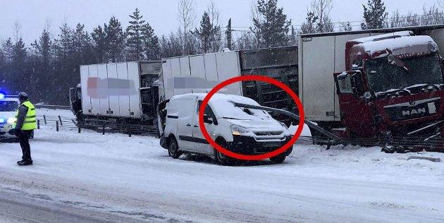 18-åringen i denne bilen kunne blitt drept onsdag.