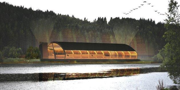 Denne hallen kan bli realisert i Florø.
