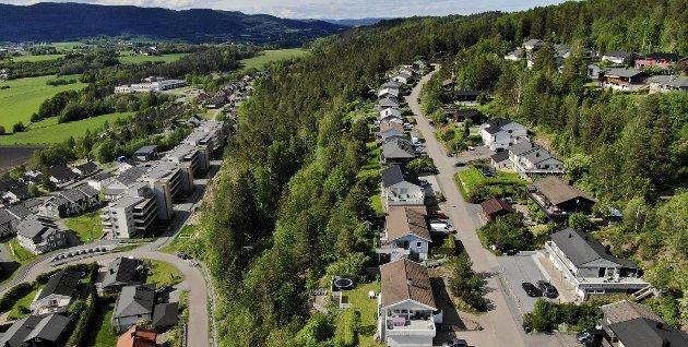 BYGGES UT: Det planlegges 600 nye boliger i området hvor det er grøntområder og rekreasjon per i dag.