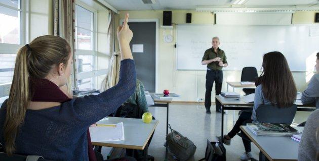 MER PÅ SKOLEN: Etter innføringen av fraværsgrense har fraværet i videregående skole sunket drastisk, påpeker Lene Westgaard-Halle og Kårstein Eidem Løvaas.