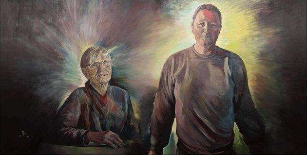 """Bildetekst: """"Enter"""" er det femte bildet i prosjektet The Art of Nursing, et samarbeid mellom NSF og Piece By Piece. Bildet stilles nå ut på Rockheim, og representerer faggruppen for rus- og psykisk helse som er hovedfokuset for Norsk Sykepleieforbund i 2021. Bildet er malt av kunstner Rodrigo Cortez"""