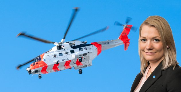 Regjeringen vil altså leie et 40 år gammelt sivilt helikopter til basen i Tromsø, med betydelig kortere rekkevidde og kapasitet, enn de splitter nye statlige redningshelikoptrene AW101 SAR Queen (bildet). Det er ikke til å tro! skriver Sps Sandra Borch.