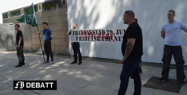 Den nordiske motstandsbevegelsen protesterte etter at politiet forbød deres 29. juli-arrangement i fjor. Nå er det Kristelige Folkeparti og Høyre som sier de ikke er velkomne.