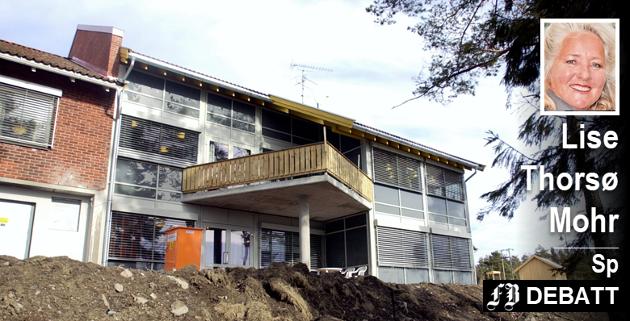 – Torsnes Alders- og sykehjem fremstår i dag som moderne med gode fasiliteter og en flott beliggenhet i rolige omgivelser, mener Thorsø Mohr. Bildet er tatt under rehabiliteringen i 2006.