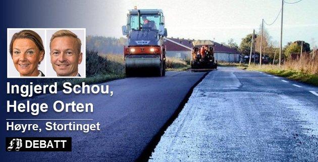 – Belønningsordningen er enda et verktøy for å få sikre og fremkommelige fylkesveier, heter det i innlegget fra Schou og Orten.
