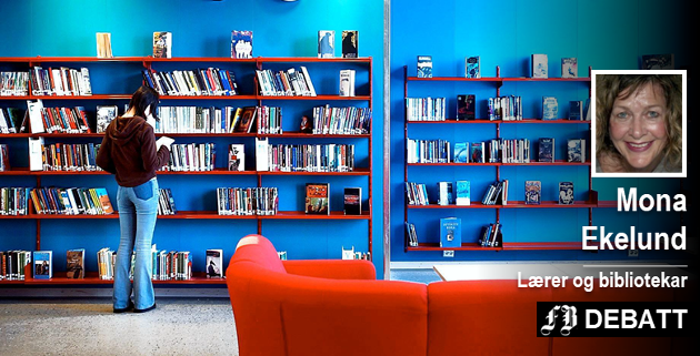 Mona Ekelund viser til beregninger som forteller at frafallet i videregående skole koster Østfold 400 millioner kroner hvert år. Hun mener skolebibliotek og mer lesing er svaret.