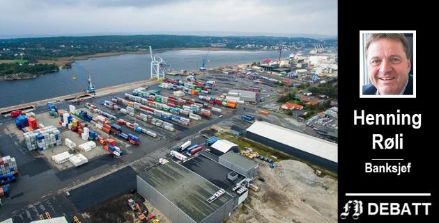 Borg havn er pulsåre og «temperaturmåler» for Østfolds handel med omverdenen. – Mange bedrifter i Østfold får ukentlige forsendelser fra England. Blir det full stopp i de store europeiske havnene? spør Henning Røli.