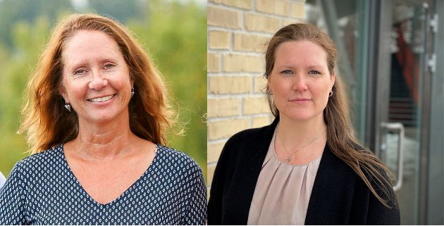 Oppvekstsjef Kari-Ann Dale (t.v.) og kommuneoverlege Ingrid Bjerring.