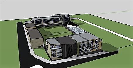 STORT: SK Gjøvik-Lyns skisser viser at mulighetene på området er store, og at klubben har ambisjoner. Med dette arbeidet legger de press på kommunen om å starte et arbeid for det framtidige Gjøvik stadion.
