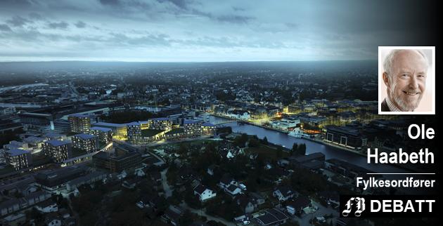 – Værstetorvet inneholder boliger, kontorer og handel, i tillegg til flere gode byrom. Grepet vil være det største enkeltprosjektet i Fredrikstad i moderne tid, skriver Haabeth.