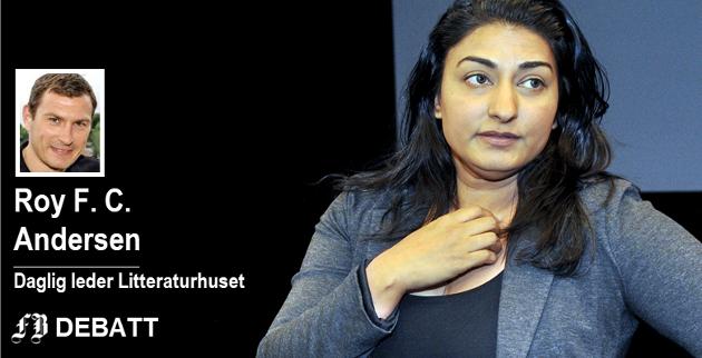 Shabana Rehman er klar for å lede «Den store samtalen»,  Litteraturhusets nye hovedsatsing med månedlige samtaler om «de store spørsmålene». Bildet er fra 2013 da hun åpnet  kulturscenen, «Scene K60» på Værste.