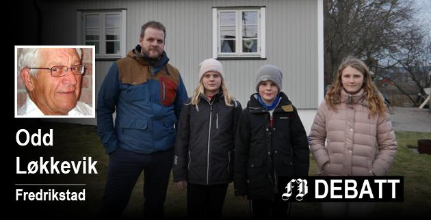 Bilde fra den nevnte reportasjen om familien Berg i Torpebergveien.