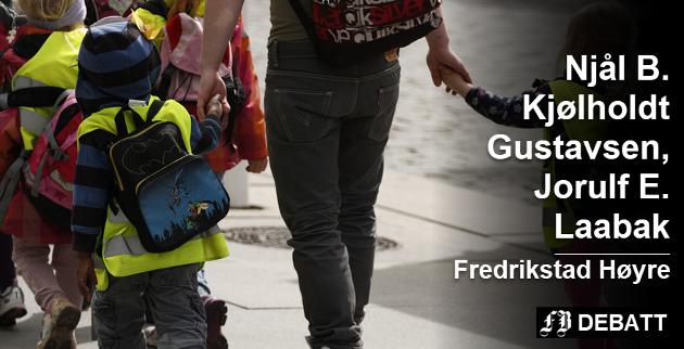 – Den private barnehagesektoren i Fredrikstad er en viktig brikke i harmoni med de offentlige, heter det i innlegget. Foto: Colourbox