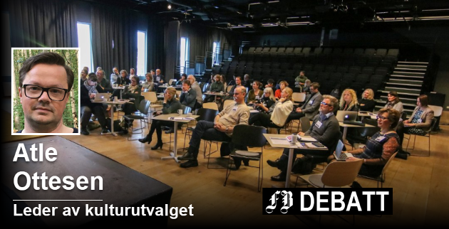 Leder av kommunens miljø- og kulturutvalg er klar for å samle kulturaktører til fagdag. Bildet er fra  Kulturkonferansen i Østfold 2017 som ble arrangert på Litteraturhuset i november. Foto: Thomas H. Arntsen