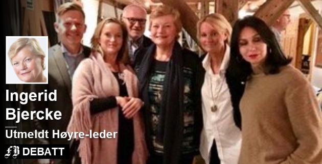 Bilde fra årsmøtet i Hvaler Høyre i november i fjor der Ingerid Bjercke ble gjenvalgt som leder.  Tage Pettersen (til venstre) besøkte årsmøte. Videre  Gine Marie Høydal Heiberg, Ottar Johansen, bak, Ingerid Bjercke, Marita Wennevold Hollen og Natalie Norvik. Foto: Privat