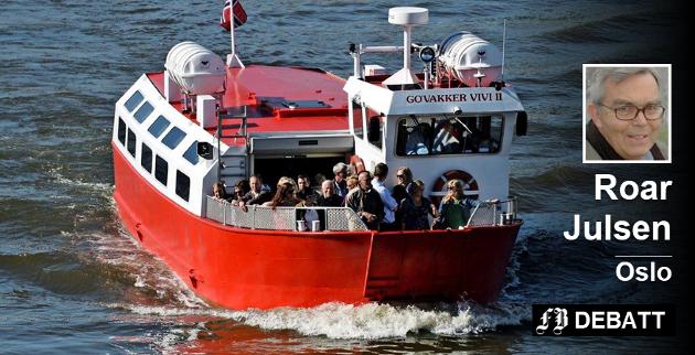 En artikkel i «Språknytt» er utgangspunkt når Roar Julsen kommenterer hva som er riktig betegnelse på de populære farkostene som driver passasjertrafikk på «ælva» i Fredrikstad. Arkivfoto: Geir A. Carlsson